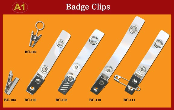 High-Quality and Low Cost Badge clip, ID Clips, ID Badge Strap with Snap Buttons (Bulldog,