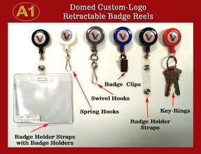 ../rt/Domed Custom-Logo Retractable Reels for Name Badge holders or ID Card Holders
