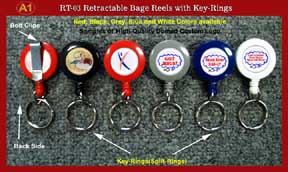 Sample 1 - RT-03 Custom Logo Retractable Key Rings